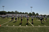 High School Students Performing at Summer Band Camp